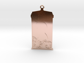 TARDIS Pendant with Ten in 14k Rose Gold Plated