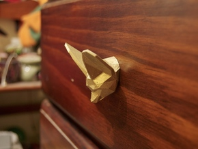 Fennec Fox Drawer Handle in White Strong & Flexible