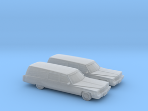 1/160 2X 1975  Cadillac Hearse in Frosted Ultra Detail