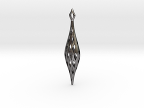 EYELET earrings , SINGLE (Scale1.15) in Polished Nickel Steel