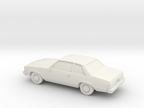 1/87 1981 Chevrolet Malibu Coupe in White Strong & Flexible