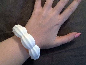 Chunky Icing Bangle in White Strong & Flexible Polished
