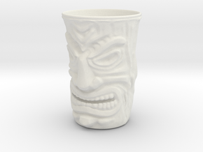 Tiki ShotGlass 40year birthday gift in White Strong & Flexible