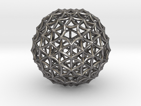 Fractal Geom Sphere in Polished Nickel Steel