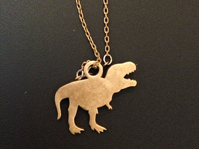 T-Rex Necklace Charm ($4.99 and up) in Raw Bronze