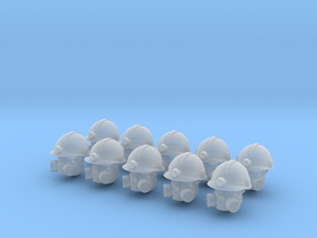 28mm Miner Heads in Frosted Ultra Detail