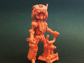 "Minibot ""Eyebrows"" in Orange Strong & Flexible Polished"