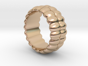Mirror Ring 26 - Italian Size 26 in 14k Rose Gold Plated