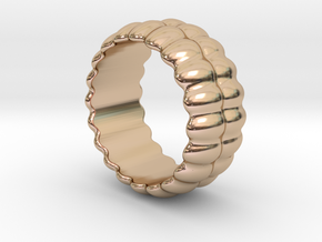 Mirror Ring 28 - Italian Size 28 in 14k Rose Gold Plated