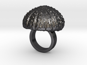 Urchin Statement Ring - US-Size 2 1/2 (13.61 mm) in Polished Grey Steel