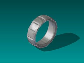 Dennis Ring-Size10 in Stainless Steel