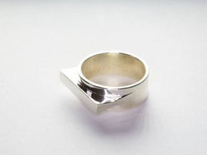 Jetset Shape Ring, Size US8 in Polished Silver