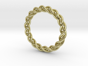 Twisted Single Strand Ring No.2 in 18k Gold Plated