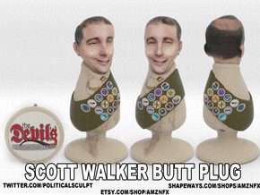 Scott Walker Butt Plug in Full Color Sandstone