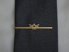 Legend of Zelda: Triforce Tie Clip in Matte Gold Steel