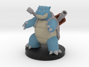 Blastoise Pokemon in Full Color Sandstone
