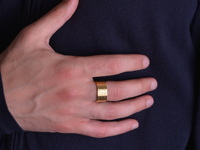FREEFUTURE F5-2 RING d=22.5mm (sizes on demand) in 18k Gold Plated