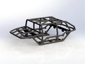 Scorpion - 4D v1 1/24th scale rock crawler chassis in Black Strong & Flexible