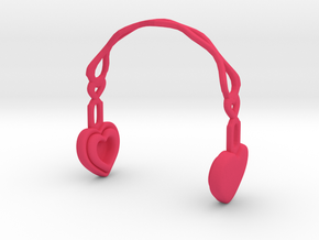 Headphones Heart Version: BJD Doll MSD fourth size in Pink Strong & Flexible Polished