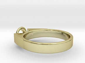 Design Ring For Diamond �17.83 Mm  Model Alessa  in 18k Gold Plated