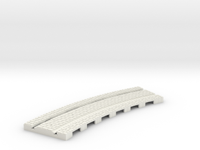 P-165stw-curve-tram-long-204r-w-1a in White Strong & Flexible