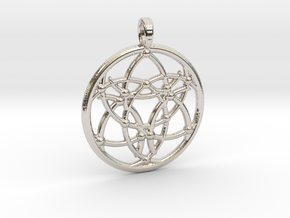 TRI-VESICA PORTAL in Rhodium Plated