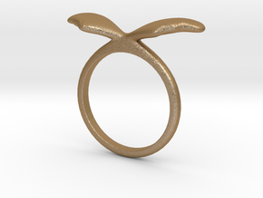 Ring Wing Size US 7 (17.3mm) in Matte Gold Steel