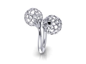 Bloom Ring (Size 6) in Polished Silver