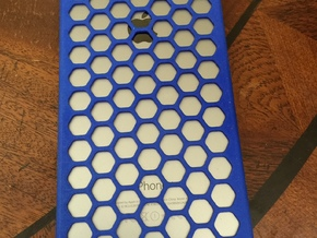 iPhone 6 Plus Honeycomb in Blue Strong & Flexible Polished