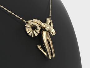 Aries Zodiac Pendant in 14k Gold Plated