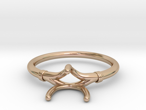 Custom Round 3 Prong Setting in 14k Rose Gold
