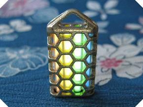 Hex Lantern X4: Tritium (All Materials) in Raw Brass