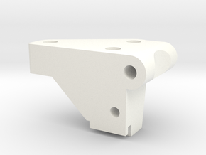 1/5 Scale Front Bulkhead, LH in White Strong & Flexible Polished