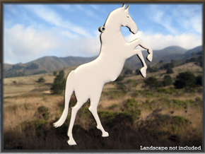 Rampant Horse in White Strong & Flexible