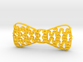 Lightweight Bowtie Puzzle in Yellow Strong & Flexible Polished