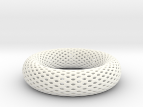 Frohr Design Bracelet Voronoi  Style in White Strong & Flexible Polished