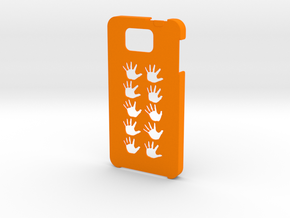 Samsung Galaxy Alpha Hands case in Orange Strong & Flexible Polished