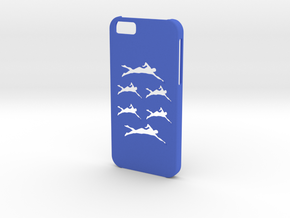 Iphone 6 Swimming case in Blue Strong & Flexible Polished