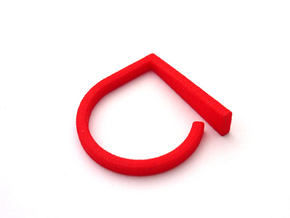 Adjustable ring. Basic model 9. in Red Strong & Flexible Polished