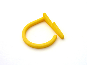 Adjustable ring. Basic model 13. in Yellow Strong & Flexible Polished