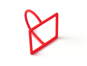 Square ring shape. in Red Strong & Flexible Polished