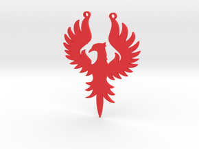 Phoenix large in Red Strong & Flexible Polished