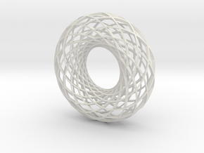 Twisted strip torus,large in White Strong & Flexible