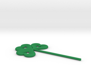 Shamrock Stick Pin Post in Green Strong & Flexible Polished