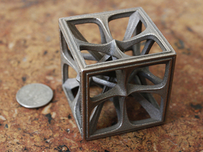 Hexahedron Medium in Stainless Steel