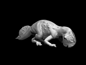 Psittacosaurus Rooting 1:12 Scale Model in White Strong & Flexible