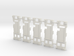 DNA200 - Mounting Plate x5 in White Strong & Flexible