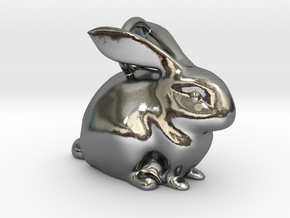 Bunny Pendant  in Polished Silver