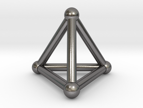 0277 Tetrahedron V&E (S&B) (a=10mm) #001 in Polished Nickel Steel