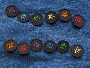 "1"" five-holed buttons (dozen) in Black Strong & Flexible"